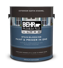 Can of Behr Premium Plus Ultra paint