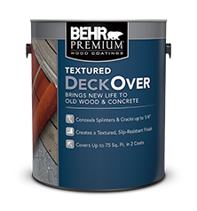 Can of Behr Premium Textured Deckover