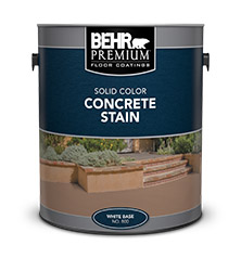 Can of Solid Color Concrete Stain