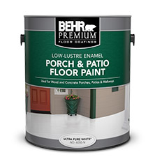 Can of Behr Premium Porch and Patio Floor Paint