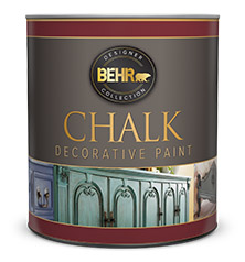 Can of Behr Chalk Decorative Paint