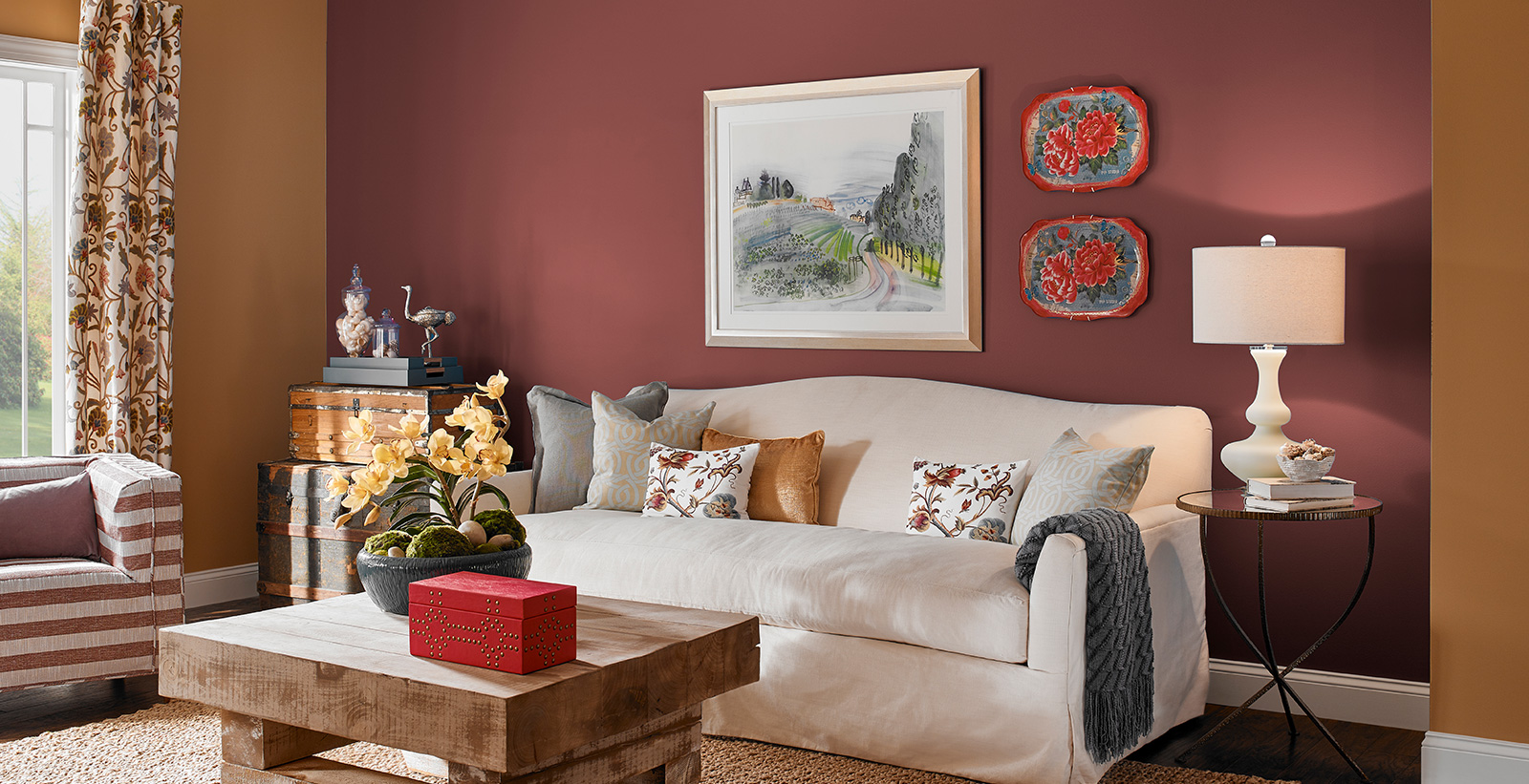 Red Living Room Ideas And Inspiration Behr Canada