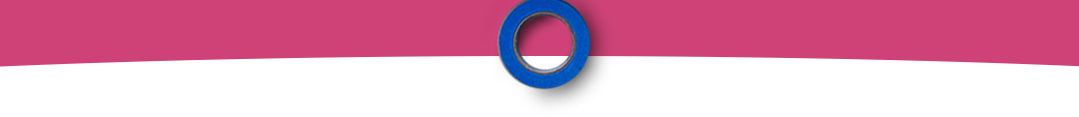 Pink ribbon with a blue circle on the middle