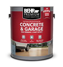 Can of BEHR PREMIUM Concrete and Garage