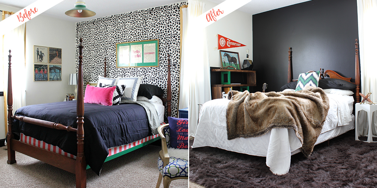 Guest Bedroom project, before and after