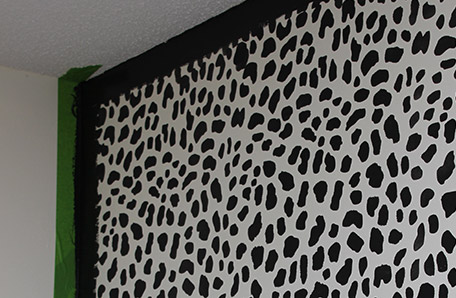 I'm looking forward to getting rid of that leopard-print wall