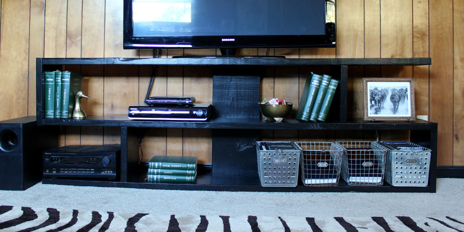 Completed media console