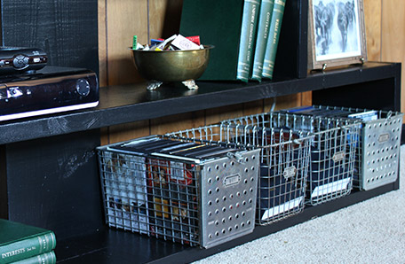 Use wire baskets for additional storage flexibility