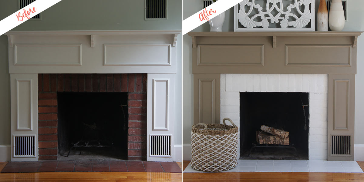 Fireplace Makeover project, before and after