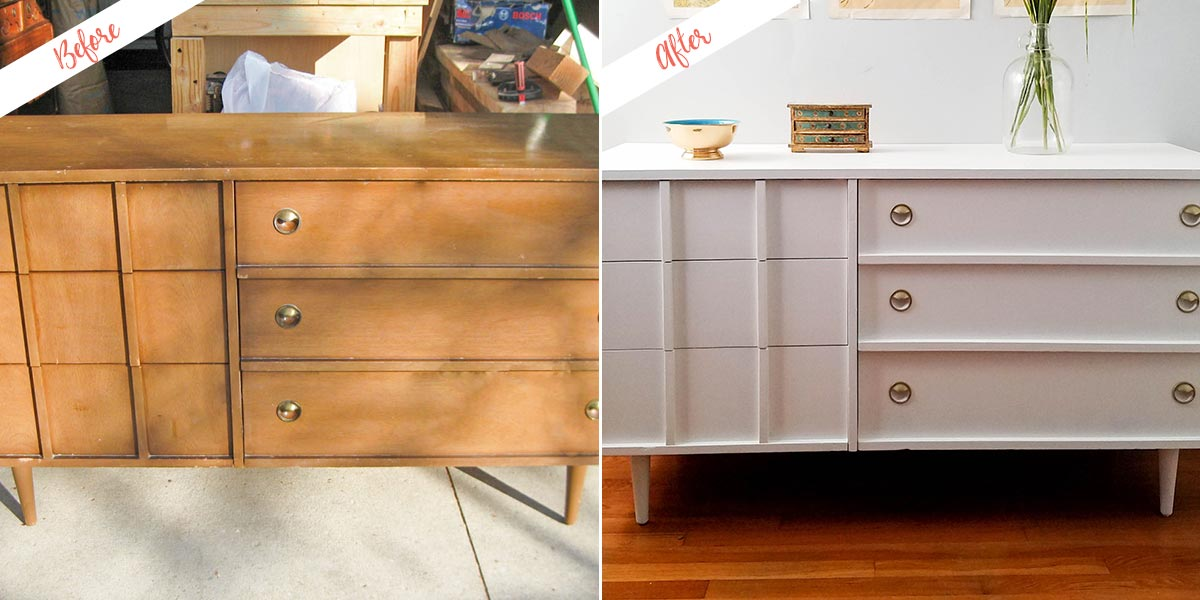 Image of: Mid Century Modern Dresser Redesign With Fresh Paint Behr Canada