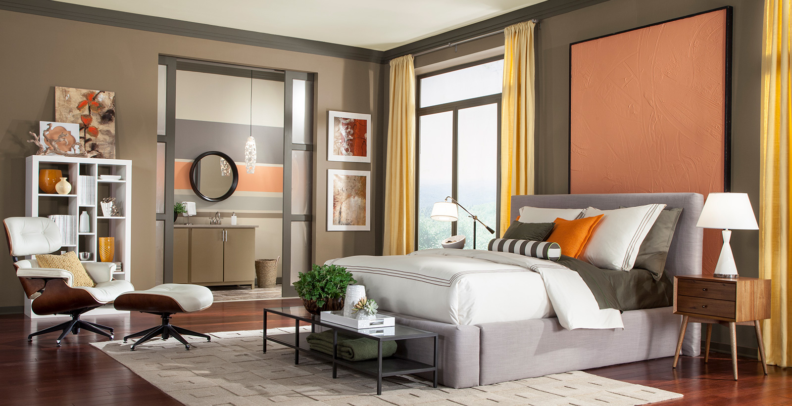 Elevated Bedroom Modern And Contemporary Bedroom Gallery Behr Canada