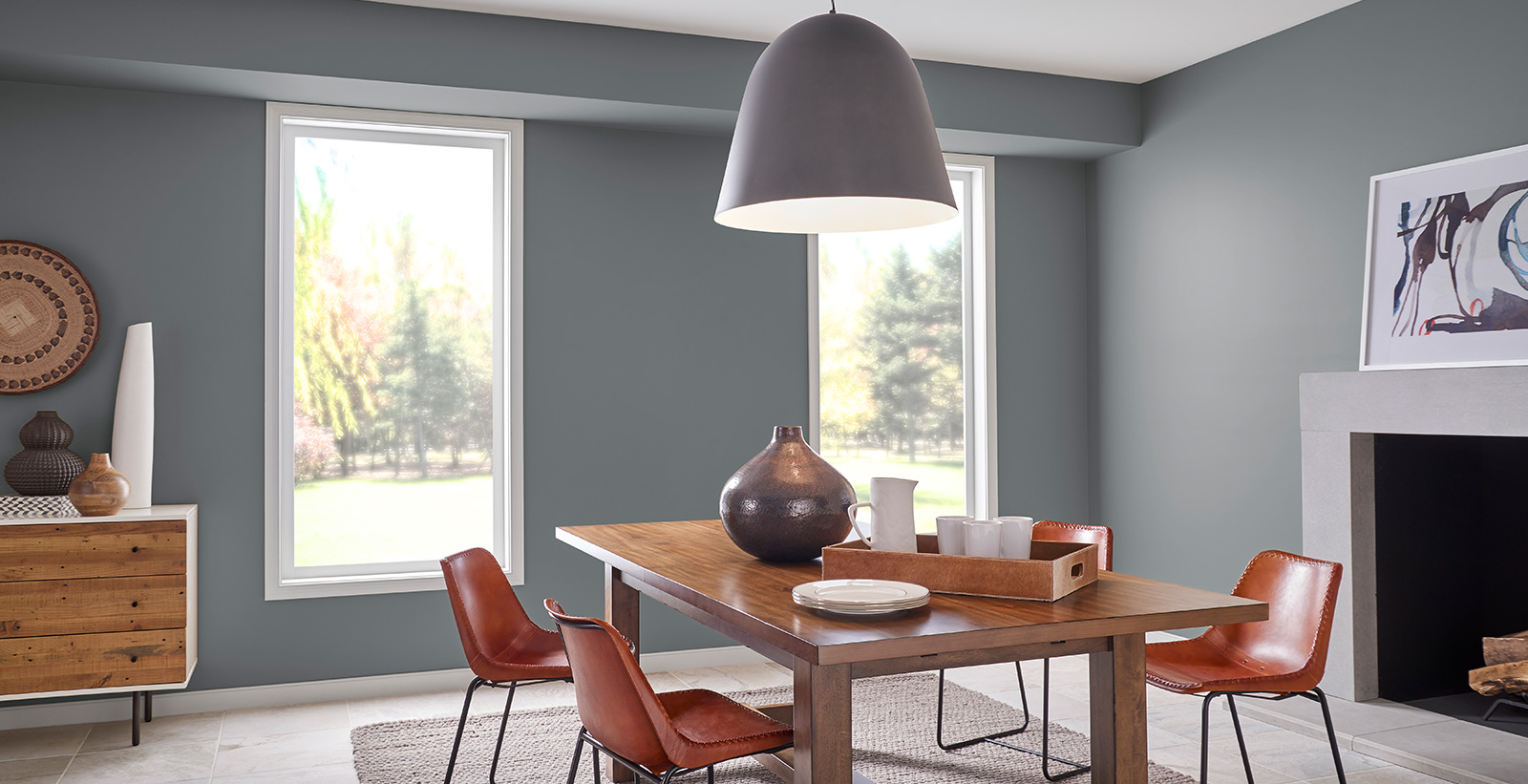 Mid Century Modern Dining Room Modern And Contemporary Dining Room Gallery Behr Canada