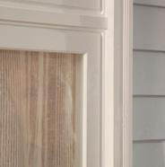 Close-up of window trim
