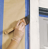 Paint garage door trim.