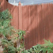 Completed stained fence.