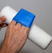 Remove lint from paint roller.