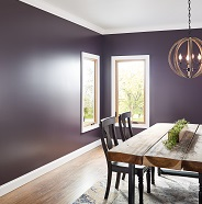 Dining room painted in eggshell sheen.