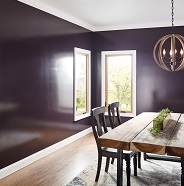 Dining room painted in high gloss sheen.