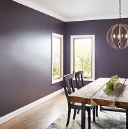Dining room painted in matte sheen.