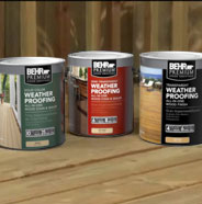 3 cans of weather proofing