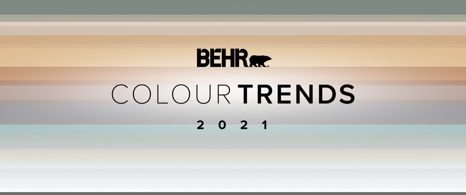 Image with the words 2021 Colour Trends with all the colour palette in the background