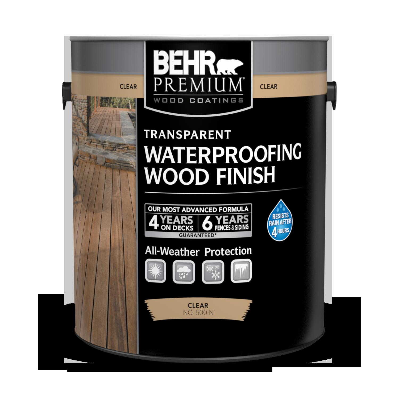 Transparent Waterproofing Wood Finish Behr Premium 174 Behr