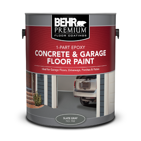 Can of concrete & garage floor paint