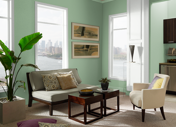Gallery Green S400 5 Behr Paint Colours
